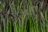 First of the season asparagus spears for sale at a local farmers market.