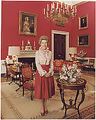 Photograph of Official Portrait of First Lady Nancy Reagan taken in the Red Room at the White House in Washington, DC on February 7, 1981.<br /> Credit: White House via CNP