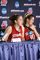 25 March 2006: Kristen Newlin and Brooke Smith during Stanford's 88-74 win over the Oklahoma Sooners during the NCAA Women's Basketball tournament in San Antonio, TX.