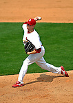 14 March 2007: St. Louis Cardinals pitcher Brad Thompson in the action against the Washington Nationals at Roger Dean Stadium in Jupiter, Florida...Mandatory Photo Credit: Ed Wolfstein Photo
