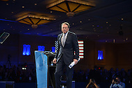 March 14, 2013  (National Harbor, Maryland)  Wayne LaPierre, CEO of the National Rifle Association, leaving the stage at the 2013 Conservative Political Action Conference (CPAC) in National Harbor, MD.  (Photo by Don Baxter/Media Images International)