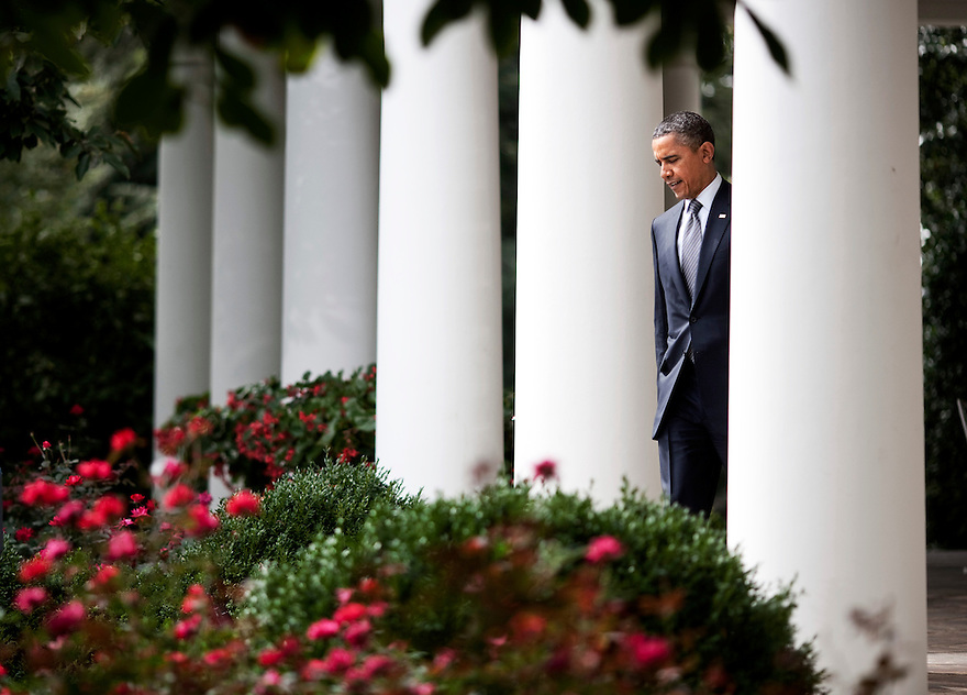President Barack Obama arrives to speak about his deficit reduction plan the Rose Garden of the White House in Washington.   President Obama called for $1.5 trillion in new taxes on the rich in a plan aimed at slashing the deficit.