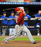 5 March 2012: Washington Nationals outfielder Brett Carroll in action during a Spring Training game against the New York Mets at Digital Domain Park in Port St. Lucie, Florida. The Nationals defeated the Mets 3-1 in Grapefruit League play. Mandatory Credit: Ed Wolfstein Photo