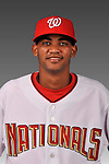 14 March 2008: ..Portrait of Edulin Abreu, Washington Nationals Minor League player at Spring Training Camp 2008..Mandatory Photo Credit: Ed Wolfstein Photo