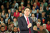 Rt Hon Ed Miliband MP, Leader of the Labour Party, speaking at Labour's Cost-Of-Living Contract at Labour's local and European election launch in Redbridge, Redbridge Sports and Leisure Centre, Ilford, Essex, United Kingdom. 1st May 2014.