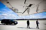 Secret Service agents move into position as Republican vice presidential candidate Rep. Paul Ryan arrives at Fort Myers - Southwest Florida International Airport in Fort Myers, Florida, October 18, 2012.