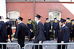 05/19/2013 - Medford/Somerville, MA - Students process in to the Phase I ceremony of Tufts University's 157th Commencement on Sunday, May 19, 2013.  (Emily Zilm for Tufts University)