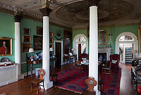 The hall, with its Corinthian columns and elaborate plasterwork ceiling, was added in the 1790s
