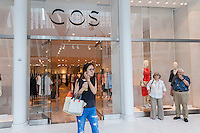 The Cos store in the World Trade Center Transportation Hub, known as the Oculus, on Tuesday, August 16, 2016 during the grand opening of the retail spaces. The 350,000 square foot retail space will feature over 100 stores when they all open, including a now opened Apple Store. The mall opens almost 15 years after the World Trade Center terrorist attack.  (© Richard B. Levine)