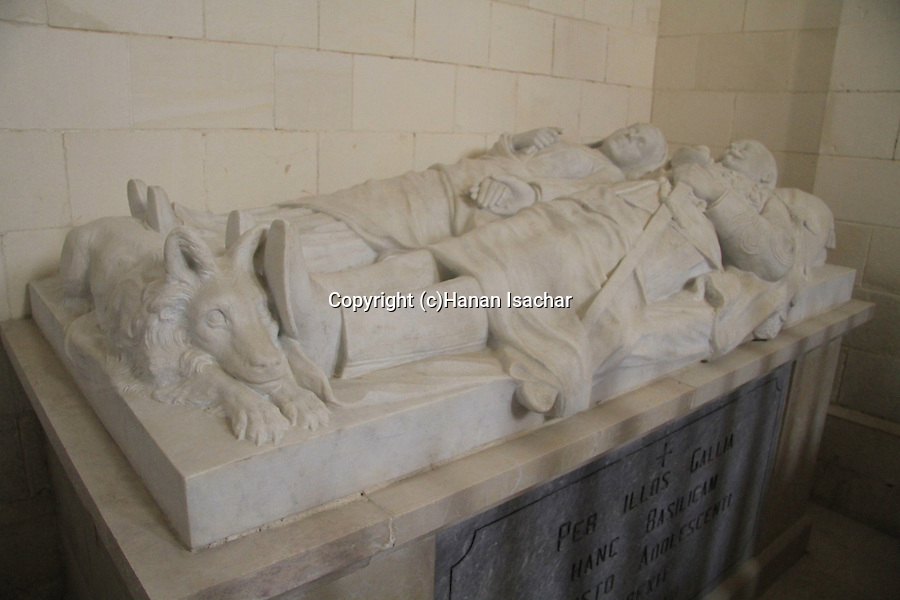 Israel, Lower Galilee, tomb of Louis Foache (a commander in the French Army) and his wife Charlotte Di Schibbi at the Salesian Church in Nazareth