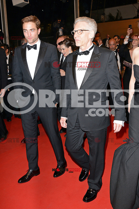 "Robert Pattinson and David Cronenberg attending the ""Cosmopolis"" Premiere during the 65th annual International Cannes Film Festival in Cannes, France, 25.05.2012...Credit: Timm/face to face /MediaPunch Inc. ***FOR USA ONLY***"