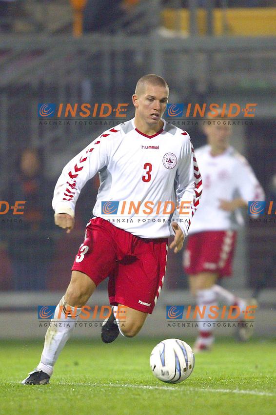 Rieti 19 Novembre 2003 Qualificazioni Campionato Europeo Under 21<br /> Italia Danimarca Under 21 0-0<br /> Leon Andreasen<br /> Foto Andrea Staccioli Insidefoto