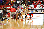 "Arkansas Little Rock's James White (33), Mississippi's Anthony Perez (13), and Mississippi's Martavious Newby (1) go for the ball at the C.M. ""Tad"" Smith Coliseum in Oxford, Miss. on Friday, November 16, 2012."