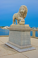 St. Augustine's beautiful lion statues are named Firm and Faithful. The two statues are at  the north entrance to downtown St. Augustine. They are Carrara marble Medici statues that are copies of those found in the Loggia dei Lanzi in Florence, Italy. The statues were a gift of Dr. Andrew Anderson (1839–1924), the builder of the Markland House. The statues were his last gift, and he did not live long enough to see them installed. They were made by the Romanelli Studios in Florence, Italy. The lions are a symbol of the Spanish royal family.