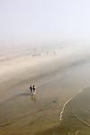 Strolling in the Fog, Huntington Beach, CA.