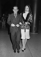 Manhattan, New York City, NY - January 28, 1974. Marisa Berenson and Jack Nicholson arrive to the Ali vs. Frazier match.
