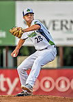 21 July 2016: Vermont Lake Monsters pitcher Dakota Chalmers on the mound during the first inning against the Hudson Valley Renegades at Centennial Field in Burlington, Vermont. The Lake Monsters edged out the Renegades 4-3 in NY Penn League play. Mandatory Credit: Ed Wolfstein Photo *** RAW (NEF) Image File Available ***