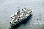 24 Aug 1981 --- American Aircraft Carrier USS Nimitz --- Image by © JP Laffont