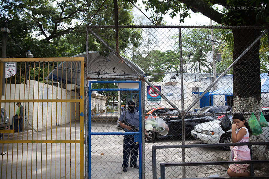 Ilopango women's prison where women have been held on abortion-related charges in San Salvador, El Salvador on June 10, 2015. Abortion in El Salvadorisillegal. The law formerly permitted an abortion to be performed under some limited circumstances, but, in 1998, all exceptions were removed when a newabortion law went into effect. Photo by Bénédicte Desrus