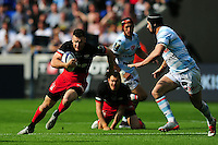 Duncan Taylor of Saracens goes on the attack. European Rugby Champions Cup Final, between Saracens and Racing 92 on May 14, 2016 at the Grand Stade de Lyon in Lyon, France. Photo by: Patrick Khachfe / Onside Images