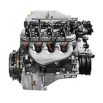 Supercharged V8 Cadillac 556HP 6.2L LSA engine isolated on white background with clipping path