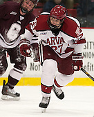 Petr Placek (Harvard - 27) - The Harvard University Crimson defeated the Colgate University Raiders 4-1 (EN) on Friday, February 15, 2013, at the Bright Hockey Center in Cambridge, Massachusetts.