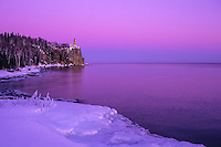 &quot;Pink Sky At Split Rock Lighthouse&quot;<br />