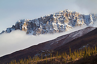 Snow covered Brooks range mountains, Arctic, Alaska