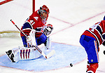 6 February 2010: Montreal Canadiens' goaltender Jaroslav Halak makes a second period save against the Pittsburgh Penguins at the Bell Centre in Montreal, Quebec, Canada. The Canadiens defeated the Penguins 5-3. Mandatory Credit: Ed Wolfstein Photographer
