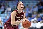 12 February 2015: Florida State's Brittany Brown. The University of North Carolina Tar Heels hosted the Florida State University Seminoles at Carmichael Arena in Chapel Hill, North Carolina in a 2014-15 NCAA Division I Women's Basketball game. UNC won the game 71-63.