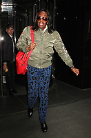 NEW YORK, NY - APRIL 19: Verdine White, member of the legendary R&B band Earth Wind and Fire spotted leaving his hotel in in New York City on April 19, 2017. Photo Credit: Rainmaker Photo/MediaPunch