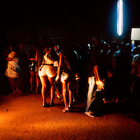 Revellers in a night club in the centre of Luanda.
