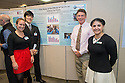 Public Health Poster Session. Class of 2015. Amanda Dauten, from left, Eric Min, Philip Trabulsy, M.D., Sarah Vossoughi.