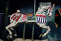 May 12, 2010 - Tokyo, Japan - King of Pop's carousel horse is on display at the 'Michael Jackson - The official Lifetime Collection' exhibition, in a hall at the foot of Tokyo Tower, Tokyo, Japan, on May 12, 2010. More than 280 items of Michael Jackson memorabilia including crystal-studded gloves and favorite 1967 Rolls Royce are on display until July 4. (c) MICHAEL JACKSON ESTATE