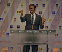 September 10, 2016, Washington DC, USA:   Nyles DiMarco, the first deaf person to win America's Top Model and Dancing with the Stars, addresses the audience a the 20th Annual Human Rights Campaign (HRC) dinner in Washington DC. DiMarco talked about the support he received as a deaf and gay man in America and chastised Donald Trump for his mockery of people with disabilities.  Patsy Lynch/MediaPunch
