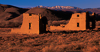 Nevada, Silver Springs, Fort Churchill State Historic Park built in 1860, U.S. Army guarded Pony Express &amp; others against Indian attack, These United States Book pages 106-107