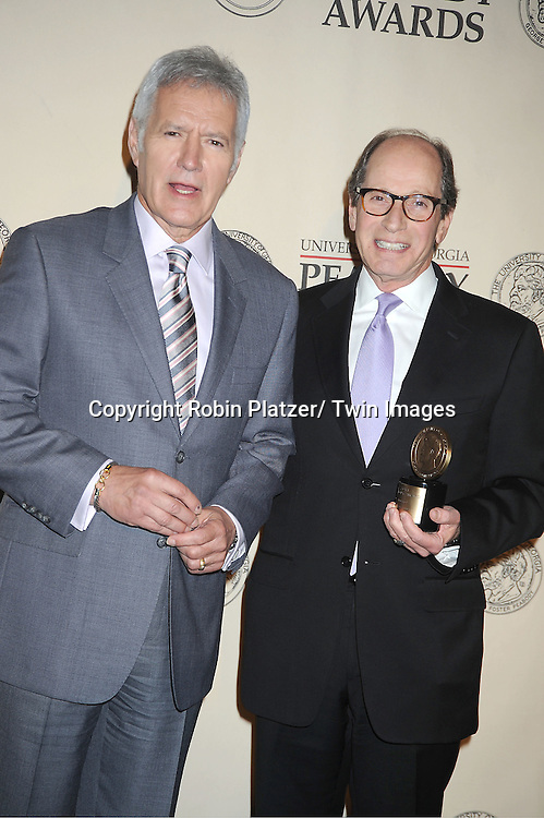 "Alex Trebek and Harry Friedman winners for ""Jeopardy attends the 71st Annual Peabody Awards at the Waldorf Astoria Hotel in New York City on May 21, 2012."