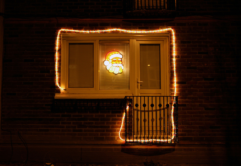 In Dublin, more and more people are decorating the outside of their houses with flashy decorations.