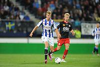 VOETBAL: HEERENVEEN: Abe Lenstra stadion 23-08-2014, SC Heerenveen - Excelsior uitslag 2 - 0, Joost van Aken, ©foto Martin de Jong