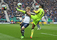 Preston North End's Daryl Horgan in action with Reading's Jordan Obita<br /> <br /> Photographer Mick Walker/CameraSport<br /> <br /> The EFL Sky Bet Championship - Preston North End v Reading - Saturday 11th March 2017 - Deepdale - Preston<br /> <br /> World Copyright &copy; 2017 CameraSport. All rights reserved. 43 Linden Ave. Countesthorpe. Leicester. England. LE8 5PG - Tel: +44 (0) 116 277 4147 - admin@camerasport.com - www.camerasport.com