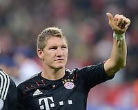 FUSSBALL   CHAMPIONS LEAGUE   SAISON 2012/2013   GRUPPENPHASE   FC Bayern Muenchen - FC Valencia                            19.09.2012 JUBEL Bastian Schweinsteiger (FC Bayern Muenchen), Torschuetze zum 1-0