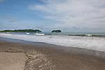 2012 August 05:  Cleaning the beach in Playa Sámara, Costa Rica.