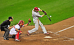 27 September 2010: Philadelphia Phillies' outfielder Jayson Werth in action against the Washington Nationals at Nationals Park in Washington, DC. With an 8-0 win tonight, the Philles clinched the National League Eastern Division Title. Mandatory Credit: Ed Wolfstein Photo
