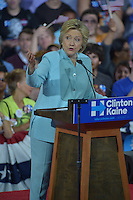 MIAMI, FL - JULY 23: Democratic Presumptive Nominee for President former Secretary of State Hillary Clinton speaks during a campaign rally with Florida voters at the Florida International University Panther Arena, Florida on Friday, July 23, 2016. With two days to go until the Democratic National Convention, Hillary Clinton is campaigning in Florida.  Credit: MPI10 / MediaPunch