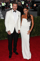 """NEW YORK CITY, NY, USA - MAY 05: David Beckham, Victoria Beckham at the """"Charles James: Beyond Fashion"""" Costume Institute Gala held at the Metropolitan Museum of Art on May 5, 2014 in New York City, New York, United States. (Photo by Xavier Collin/Celebrity Monitor)"""