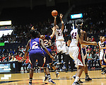 Ole MIss' Danielle McCray (22) vs. Northwestern State in women's college basketball action in Oxford, Miss. on Friday, November 16, 2012. Ole Miss won 67-51.