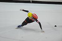 SHORTTRACK: HEERENVEEN: IJsstadion Thialf, 30-01-2015, StarClass 5 (NC-2) Europa Cup, Jeugdwedstrijd (t/m 16 jaar), Luca SPECHENHAUSER (#103 | ITA), ©foto Martin de Jong