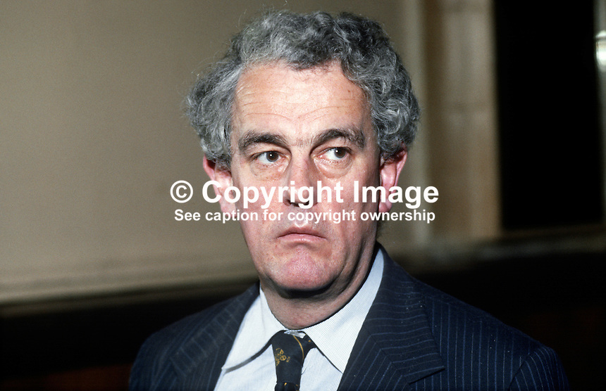 Tam Dalyell, MP, Labour Party, UK, 19840125TD1.<br />