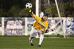 14 November 2008: Wake Forest's Akira Fitzgerald. The University of Virginia defeated Wake Forest 3-2 in two overtimes at WakeMed Stadium at WakeMed Soccer Park in Cary, NC in a men's ACC tournament semifinal game.