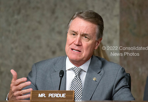 United States Senator David Perdue (Republican of Georgia) questions US Department of Defense appointees as they testify on their respective nominations before the US Senate Armed Services Committee on Capitol Hill in Washington, DC on May 9, 2017.<br /> Credit: Ron Sachs / CNP